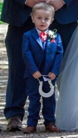 Blue three piece suit 3-4 years
