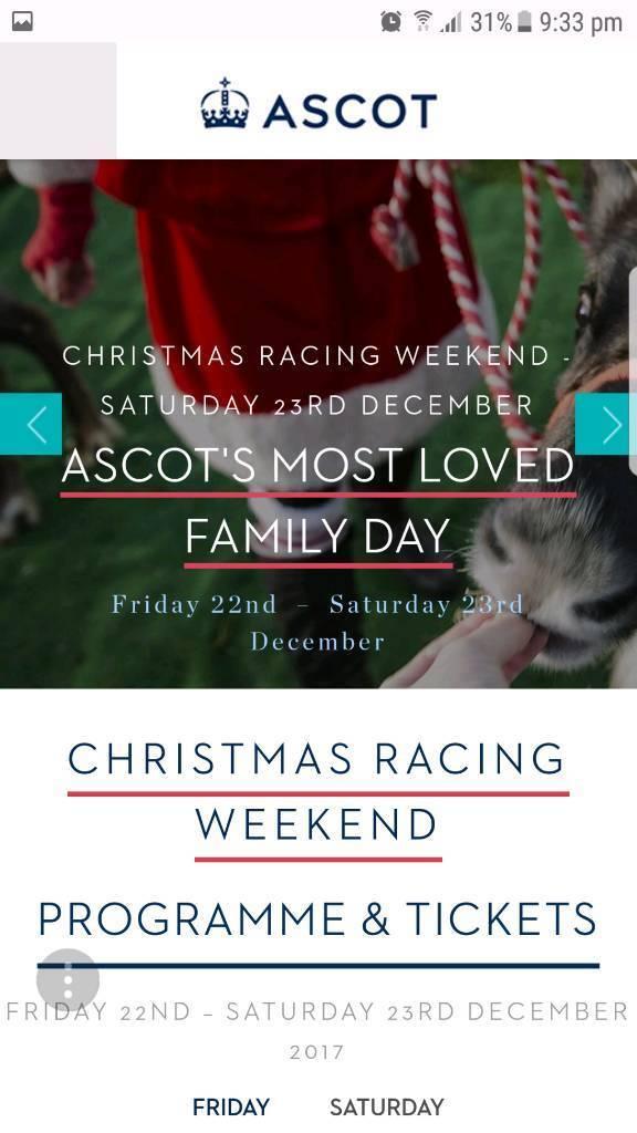 Ascot Christmas racing tickets