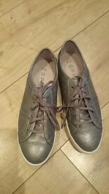ESPIRIT leather trainers size 4 brand new