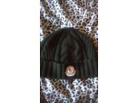 moncler dark green knitted berretto hat 1000% genuine vgc