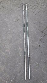 7FT & 6.8FT SOLID CAST IRON CHROME WEIGHTS BARBELL