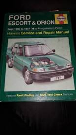Haynes Manual - Ford Escort and Orion