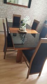 Price lowered— Matching furniture- Side board, table and 6 chairs and mirror