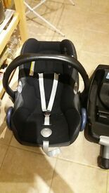 Maxi Cosi Cabrio Car Seat & Base x2
