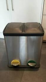 2 compartment kitchen bin