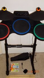 Guitar Hero Drums (Playstation 3) Including Drumsticks,Band Hero Game and Drum Dongle