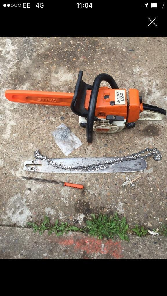 Stihl 024 chainsawin Dinnington, South YorkshireGumtree - Good runner, comes with extra 20 inch bar , 2 chains and 2 chain files , collection only