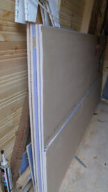 4 8x4 sheets of acoustic plasterboard - +8x2 piece