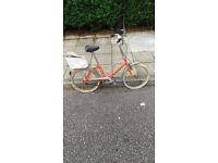 Vintage Peugeot Nouveau Style Folding Bike