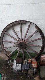 Vintage old wagon wheel