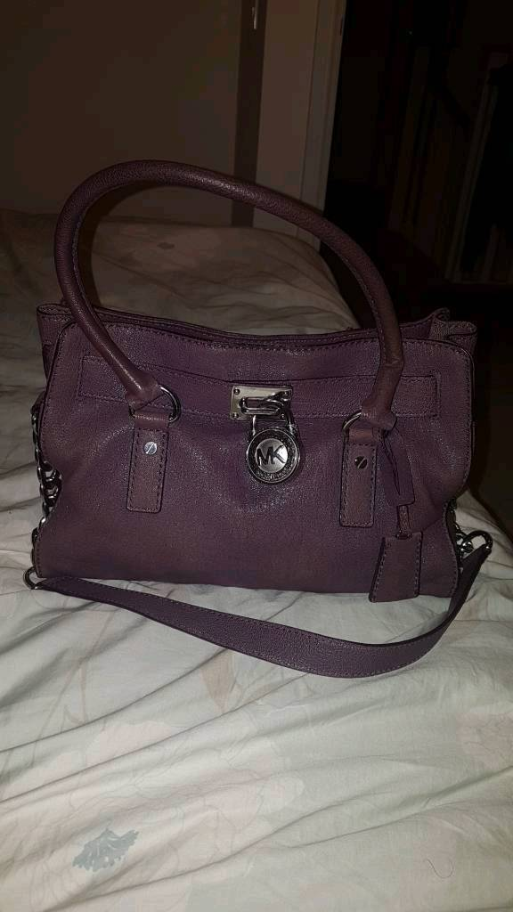 5ae2527397ed Original Real Leather Purple Michael Kors Handbag RRP £300