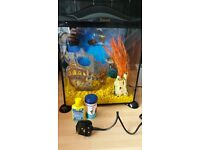 17 LITRE FISH TANK with filter and accessories