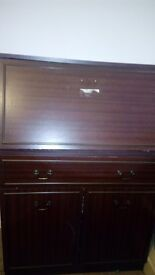 Cupboard with lot of storage shelves and desks, very good condition
