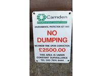 sign keep camden town london clean original council metal sign