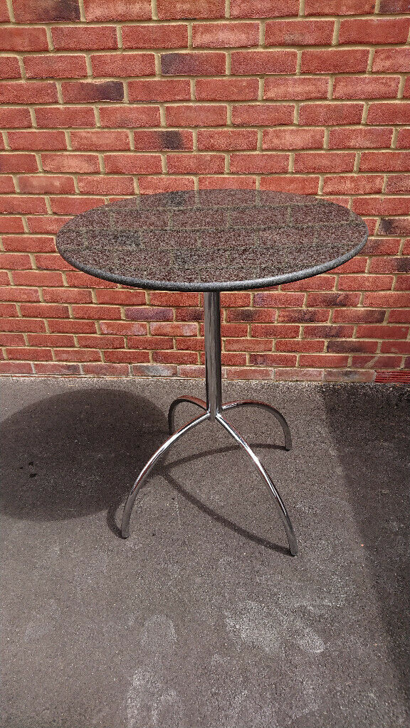 John Lewis Black Granite Top Round Bar Table Great Condition In Wokingham Berkshire Gumtree