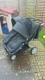Britax b agile double pram with cosy toes