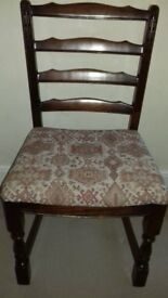 Set of 4 Old Charm dining chairs.