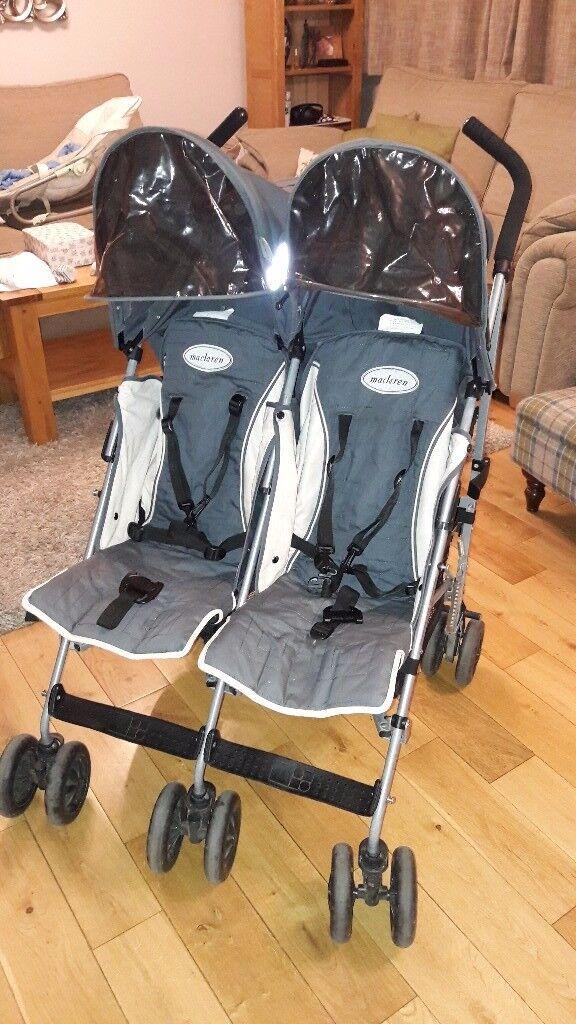 Maclarens twin stroller double buggy
