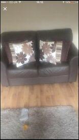 Leather 2 plus 3 seater sofa