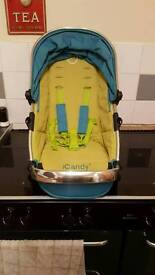 Icandy peach sweet pea seat unit and blossom carrycot