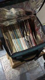 Old vinyl records various artists no rock no house really random