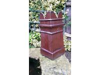 Two Chimney Pots ,Castle Type. Excellent Condition.