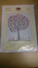 "Bothy threads cross stitch new unused ""Love Tree"""