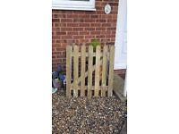 wooden gate , garden gate
