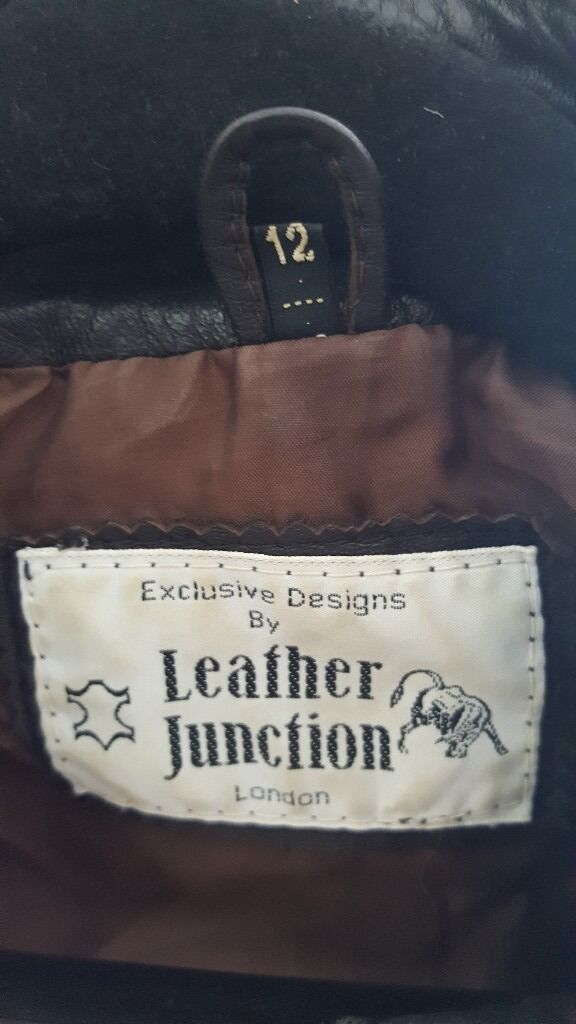 Ladies dark brown leather jacket 12in Bournemouth, DorsetGumtree - Ladies dark brown leather jacket size 12, good used condition, any questions just ask