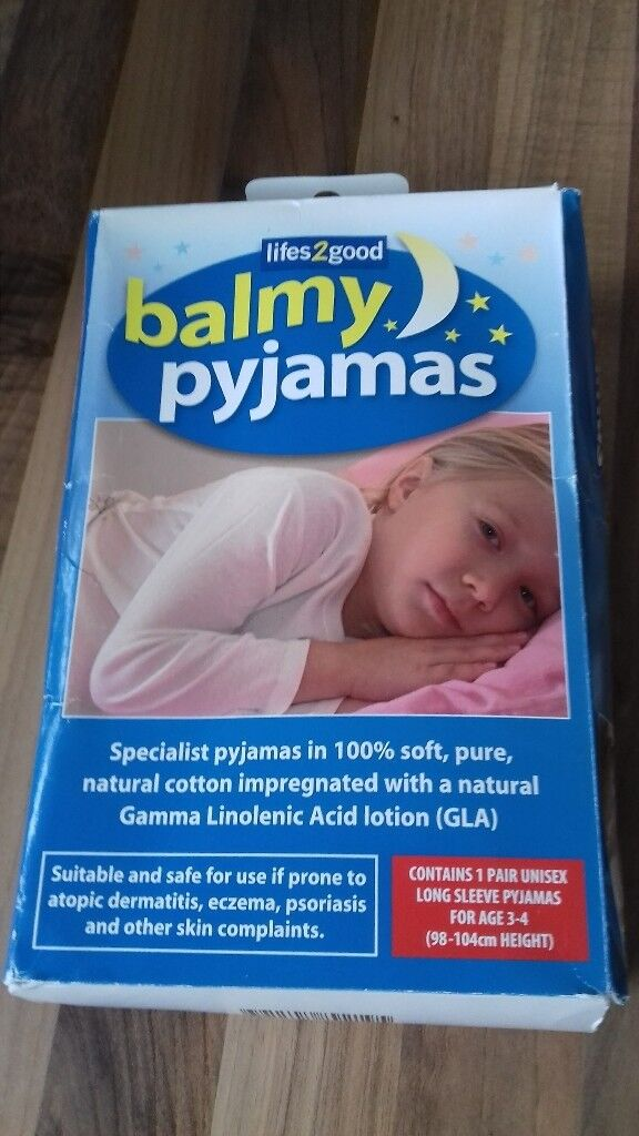 Balmy Pyjamas For Age 3-4 are made of soft natural cotton and help to soothe ezcema