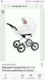 Babystyle 3 in 1 princess leatherette pram