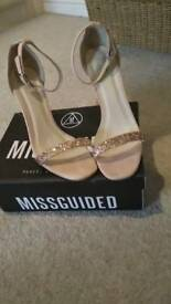 Misguided baby pink shoes size 5