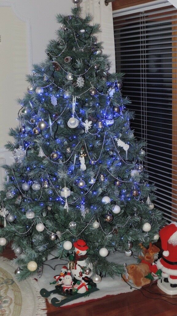 Silvery Blue Christmas Tree.