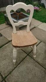 Antique pine chair. Vintage