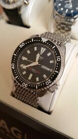 Seiko submariner 1987 automatic divers watch. Mint (will also be selling rolex omega tag heuer )