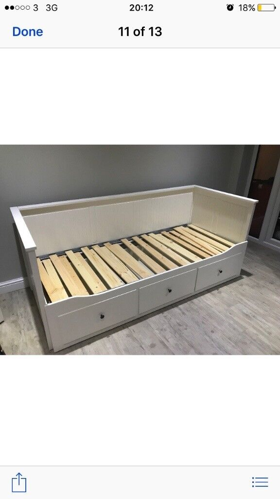 Hemnes white pull out bed