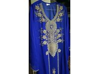 ROYAL BLUE EMBROIDED ABAYA/DRESS (SIZE SMALL) || WEDDING || PARTY || OCCASION || EID