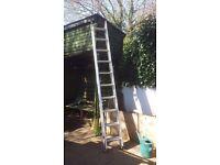 Double aluminium extending ladder (5 metres)