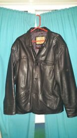 !!!Leather jacket mens Good as new Exellent condition