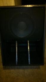 Speakers 4x 15 inch scoop speakers. custom built. 21mm plywood. huge sound. club. disco