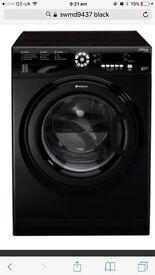 Tumble dryer door hotpoint black