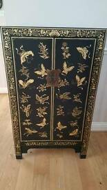 Stunning black & gold oriental cabinate
