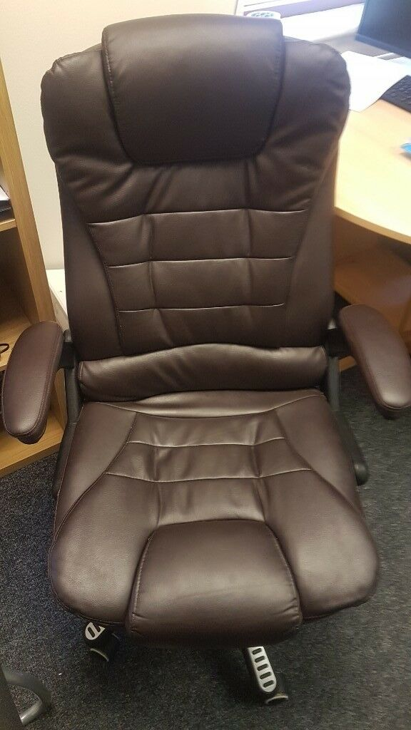brown leather office chair for sale used in west ealing london