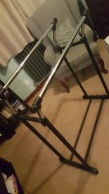 Metal clothes rail/storage. Very strong