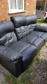 Free black recliner sofa