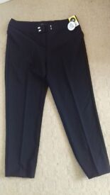 Womens black trousers size 16