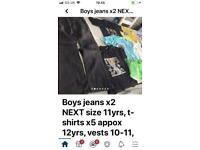 Children's bundle boys jeans T-shirts shorts vests 10-12 yrs mixed sizes, can post
