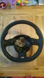 Audi A4 flat bottom steering wheel