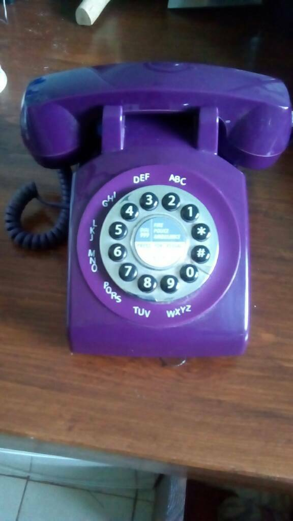 Next retro home phone burgundy /purple