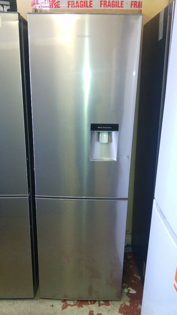 KENWOOD 60cm silver with water dispenser fridge freezer, new Ex display
